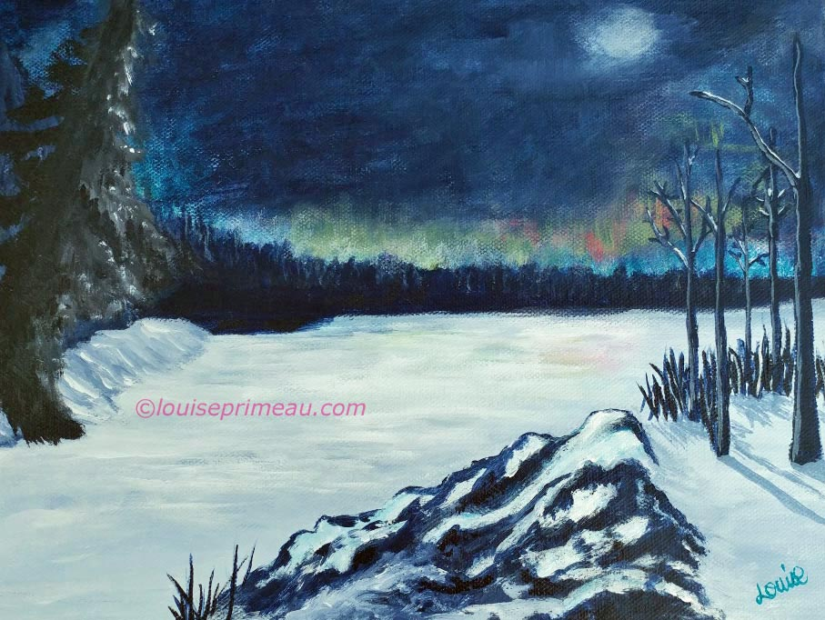 """Snowbound"" original painting by Louise Primeau"