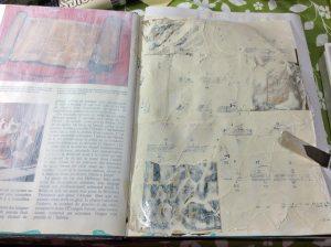 summer bride in repurposed book