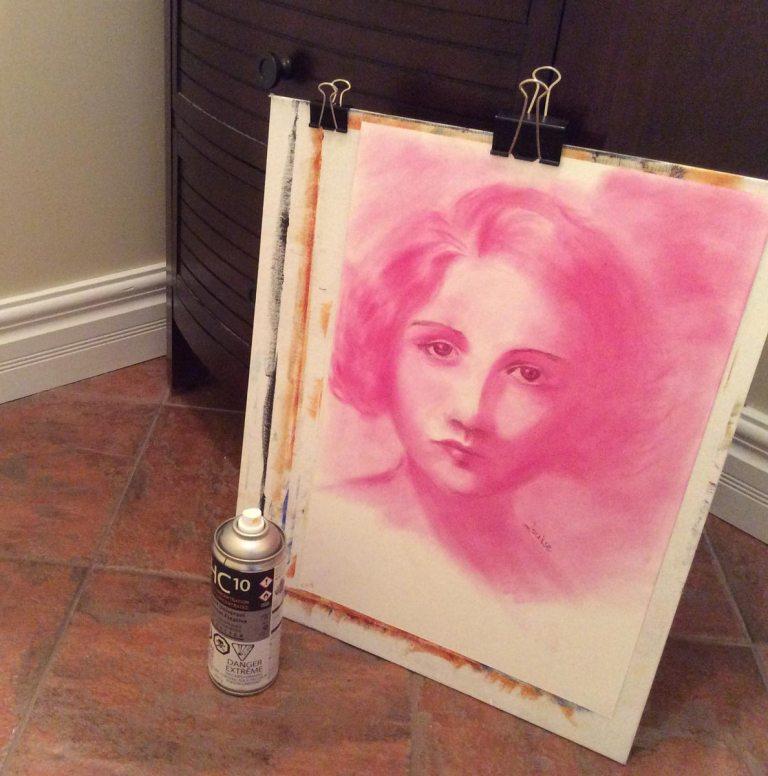 Fixing the pastel