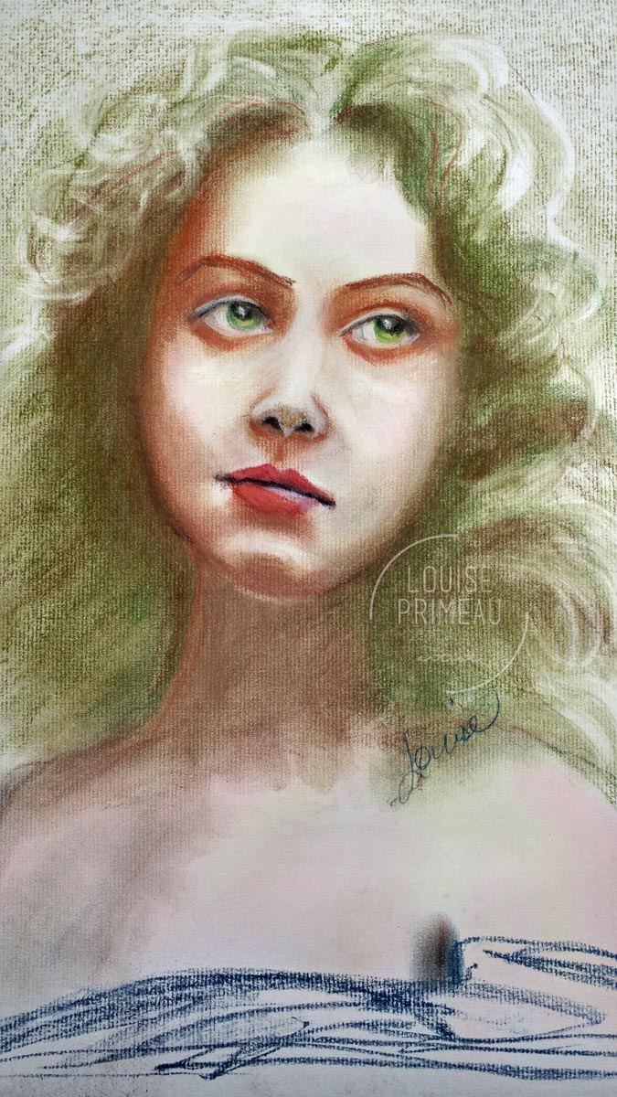 Jade mixed media portrait