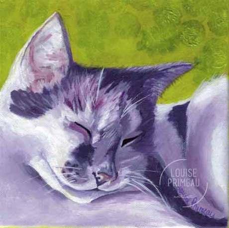 Iggy on canvas