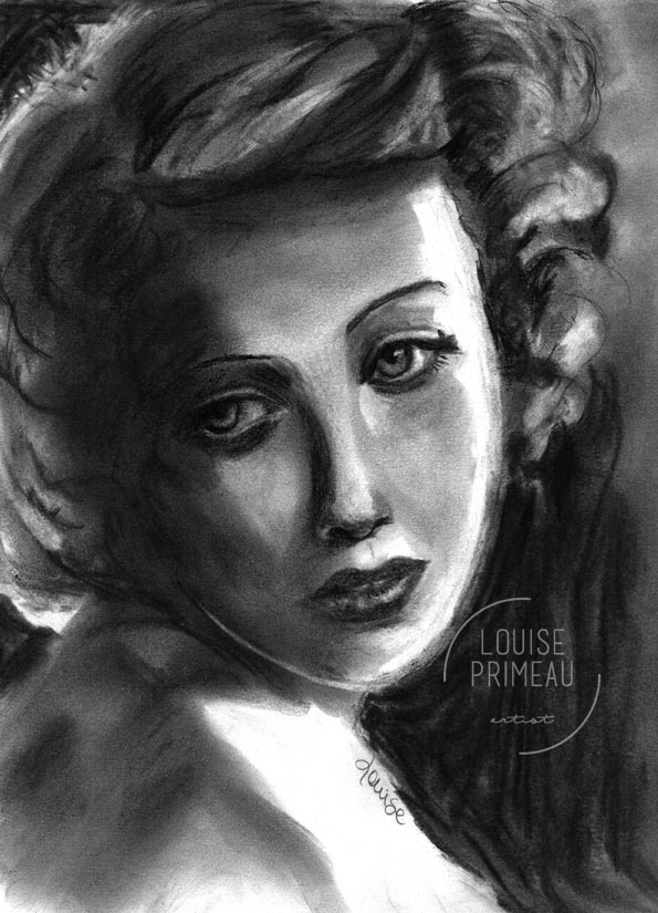 Unwanted attention - charcoal portrait by Louise's ARTiculations