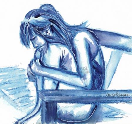 monochromatic sketch: Abigail