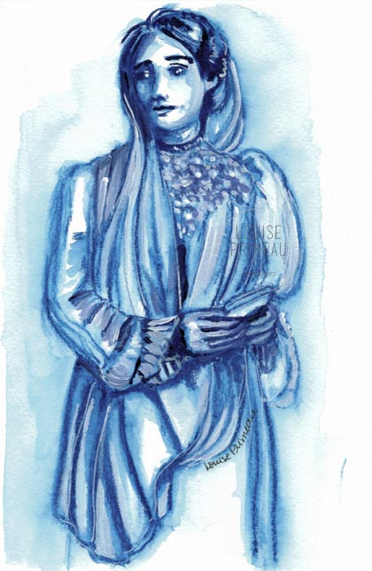 Monochromatic sketch: Cordelia