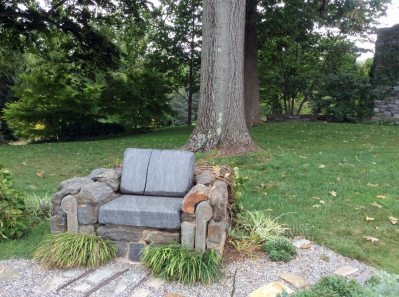Fred Flintstone chair at Chanticleer