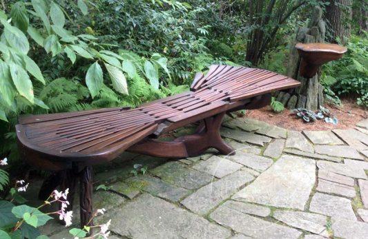original bench at Chanticleer