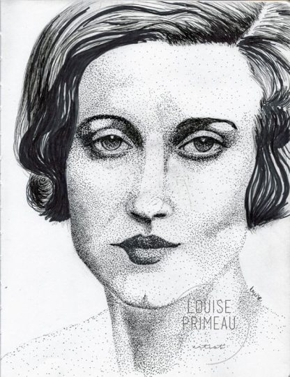 """Simone"" - pointillism in sketchbook"