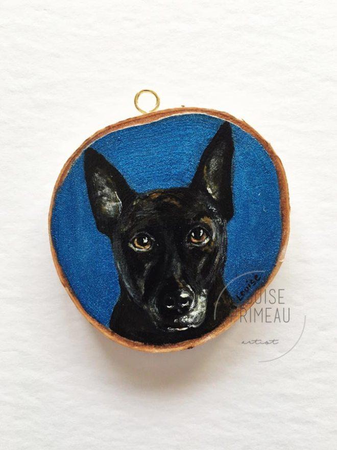 Stella, custom pet portrait by Ottawa pet portrait artist, Louise Primeau
