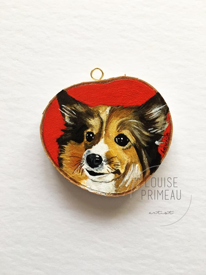 Pina the Sheltie by Ottawa pet portrait artist Louise Primeau