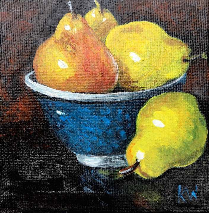 Ripe Pears by Kathy Whitham.