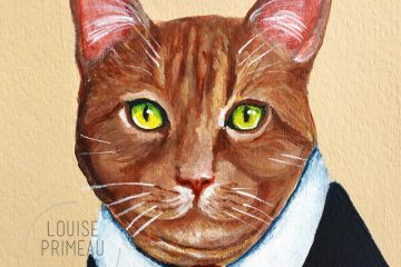 Custom pet portrait by Louise's ARTiculations