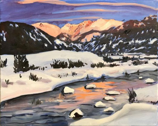 Winter in Utah by Rob Fitzsimmons, guest artist at Louise's ARTiculations