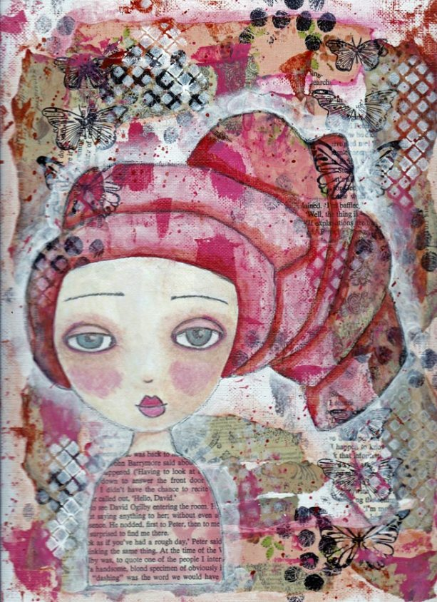 guest artist Angel Casalino at Louise's ARTiculations