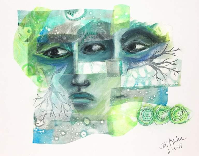 Guest artist, Jill Kuhn, at Louise's ARTiculations