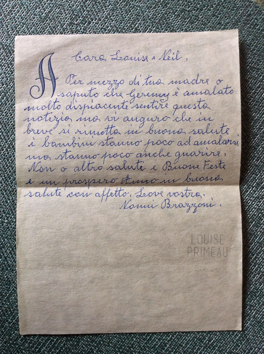 letter from nonna