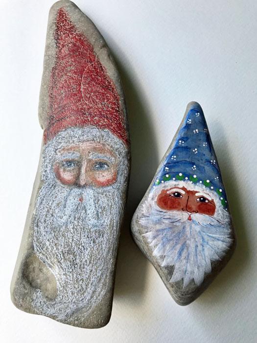 Christmas Santas by Carol Covert