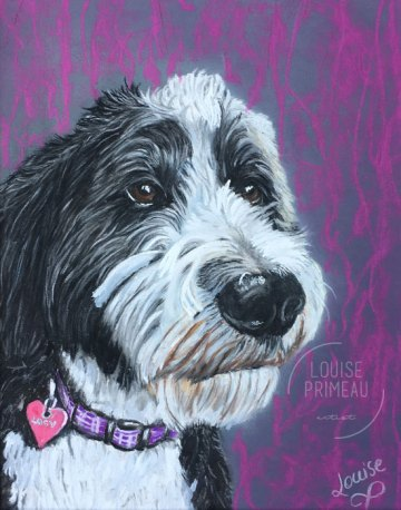 custom pastel pet portrait