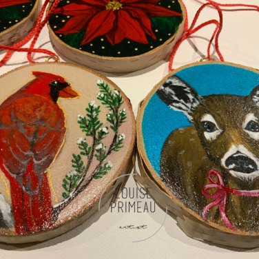 Wood slice ornaments giveaway
