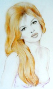 Brigitte Bardot b Ileana Prosper Holman at Louise's ARTiculations