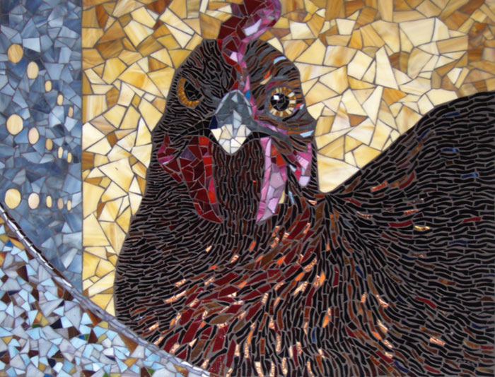 """""""Harriet"""", glass mosaic by Bebe Keith, guest artist at Louise's ARTiculations"""