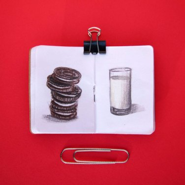 Tiny Treats Sketchbook by Christie Markins, guest artist, Louise's ARTiculations