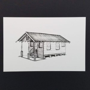 Our First Home by Christie Markins, guest artist at Louise's ARTiculations