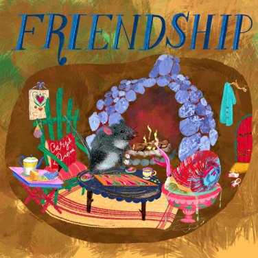 Friendship by Patsy Sherod, featured artist at Louise's ARTiculations
