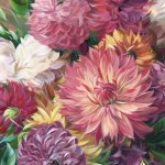 Dahlia Love by Alissa Kari Arts, guest artist at Louise's ARTiculations