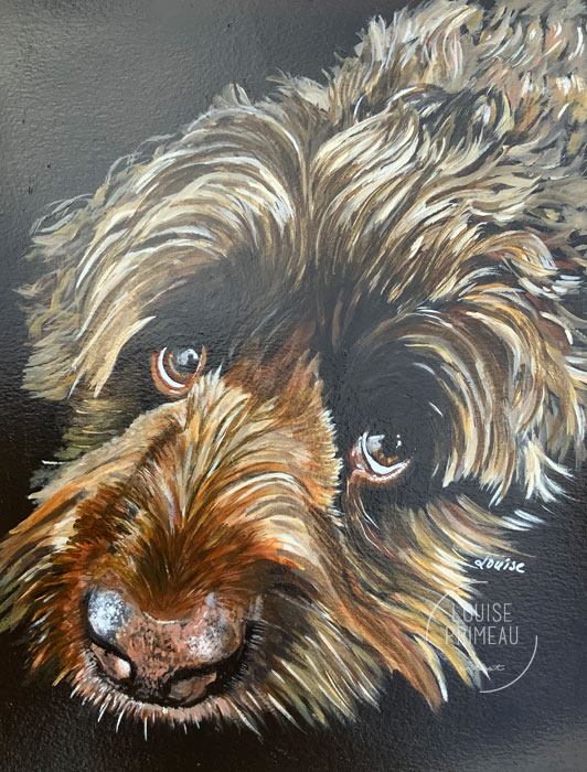 Portrait of Roxy the Cockapoo by Louise's ARTiculations.