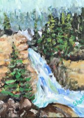 Rushing Stream Down Mountains by Len Shane