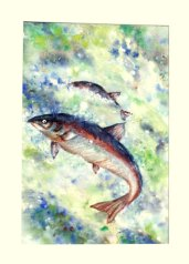 Fish Shot Outdoors by Len Shane, guest artist at Louise's ARTiculations