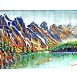 Mountains in Watercolour by Len Shane