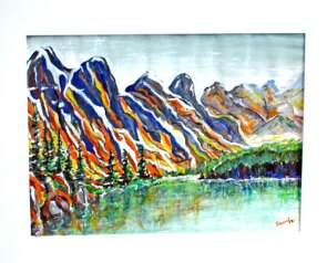 Mountains in Watercolour by Len Shane