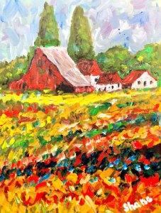 Red Barn by Len Shane