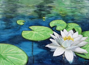 Day of the Waterlilies, by Soila Tuominen, guest artist at Louise's ARTiculations