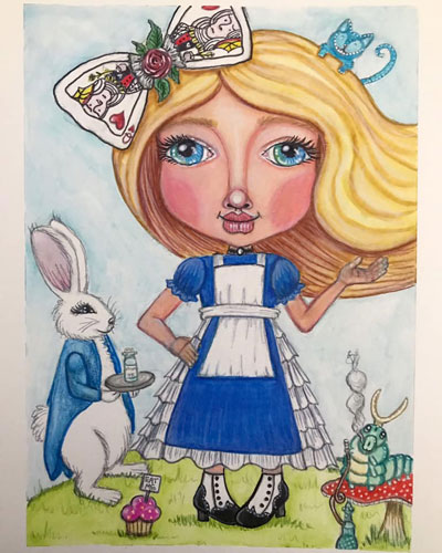 Alice by Shawnta Cermeno, guest artist at Louise's ARTiculations