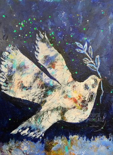 On the Wings of a Dove, last painting of 2020.