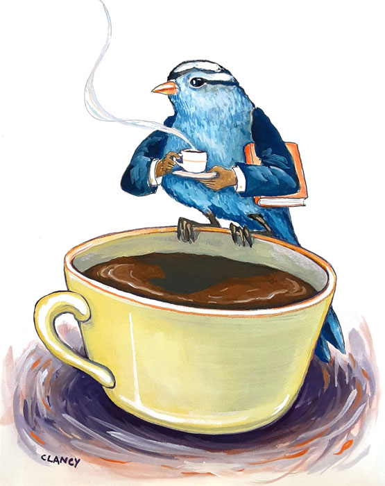Morning Cuppa by Sue Clancy, guest artist at Louise's ARTiculations