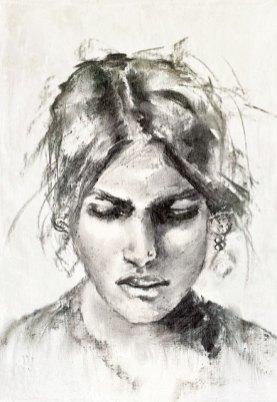 Ainara, guest artist, at Louise's ARTiculations