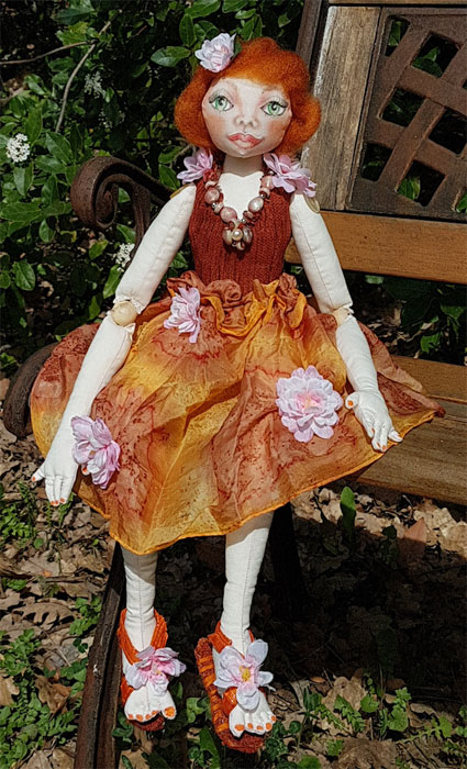 Clementine art doll by Agnes McLaughlin, guest artist at Louise's ARTiculations