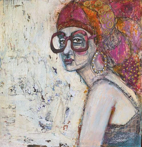 Not a Conventional Beauty, by Rossana Russo, guest artist at Louise's ARTiculations