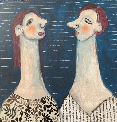 The Proud Couple, by Rossana Russo, guest artist at Louise's ARTiculations