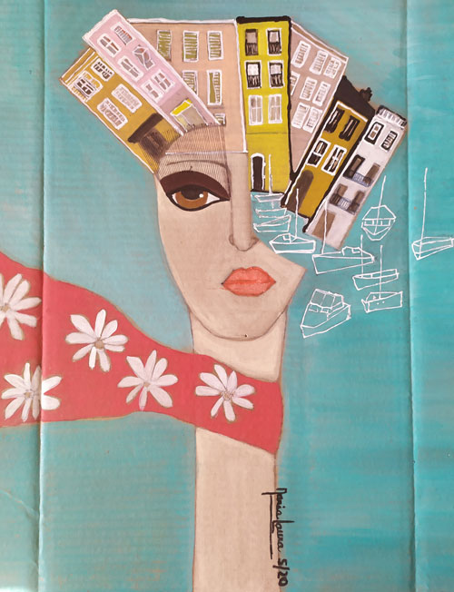 Lady Cannes by Maria Laura Vila, guest artist at Louise's ARTiculations