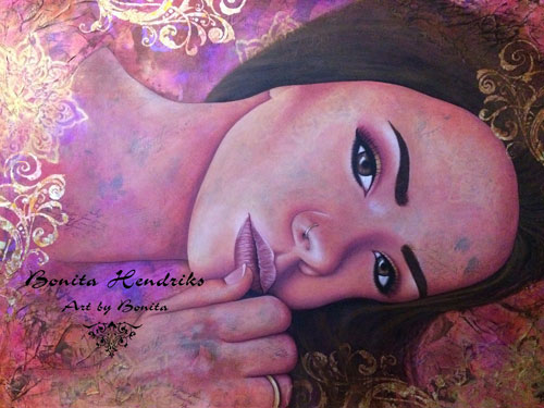 Thinking by Bonita Balster Hendriks guest artist at Louise's ARTiculations
