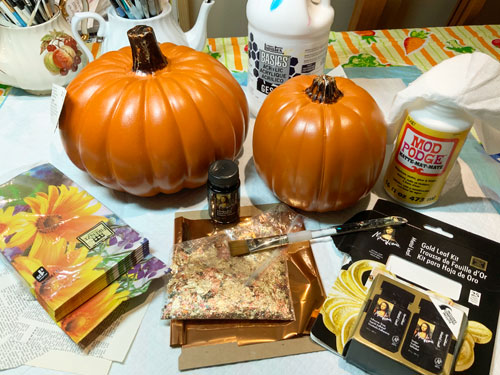 supplies for easy decorated pumpkins
