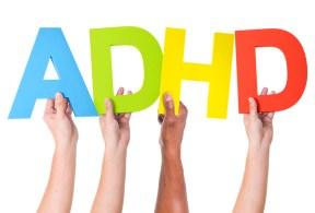 Multiethnic Arms Raised Holding ADHD