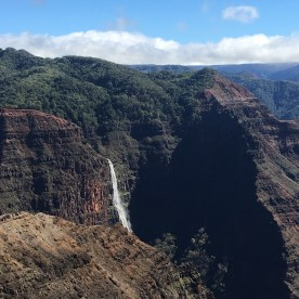 There are many waterfalls throughout the island of Kauai