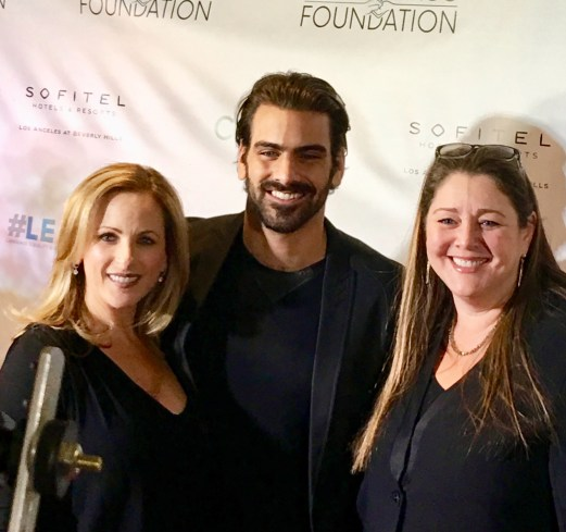 Marlee Matlin, Nyle DiMarco and Camryn Manheim at the Nyle DiMarco Foundation Party