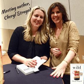 Meeting author, Cheryl Strayed