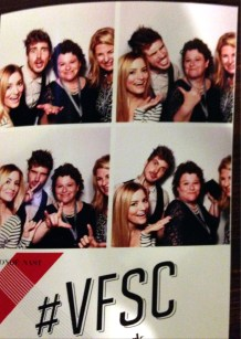 A little fun at the Vanity Fair photo booth with iJustine and